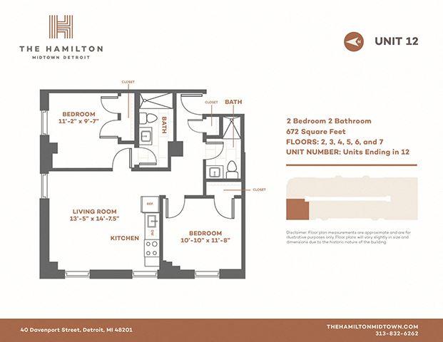 2 Bedroom Standard - Floorplan 12