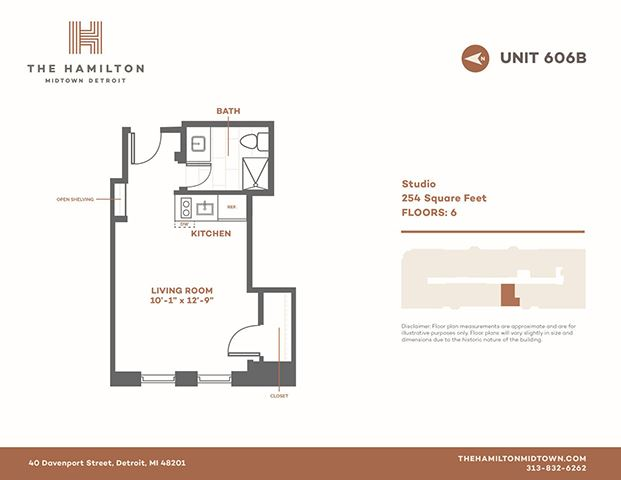 Studio - Floorplan 1