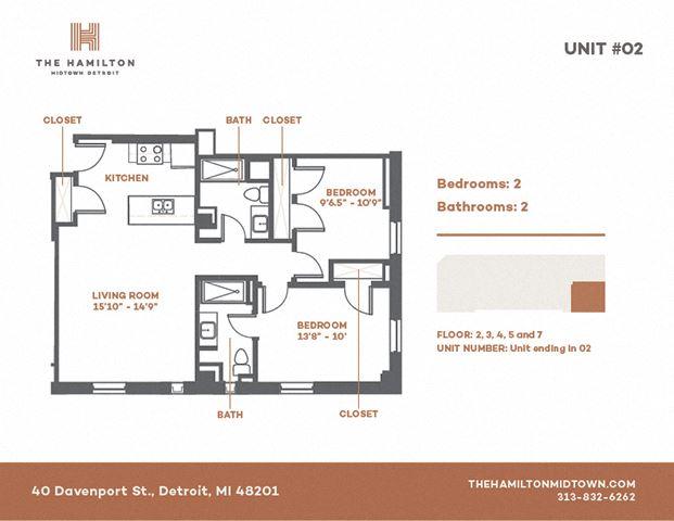 2 Bedroom Standard - Floorplan 2