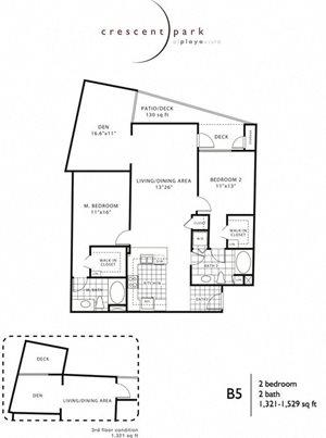 Appeal Floor Plan 2BR 2BA