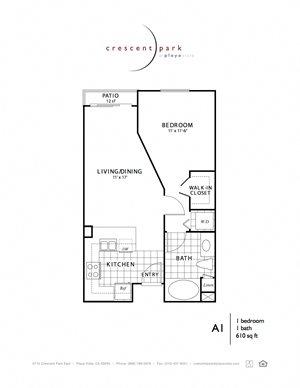 Chic Floorplan 1BR 1BA