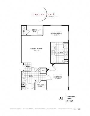 Reflect Floorplan 1BR 1BA