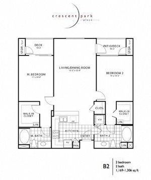 Renew Floor Plan 2BR 2BA