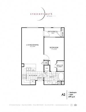 Stylish Floorplan 1BR 1BA