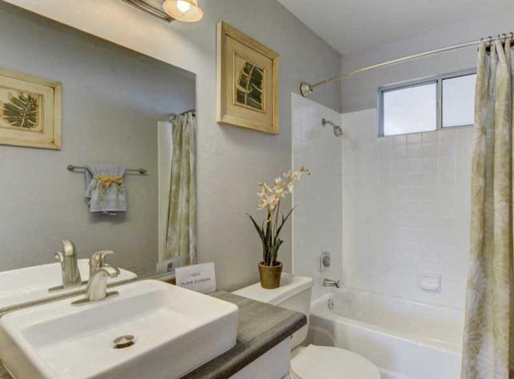 updated bathroom with window