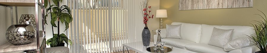 Furnished Living Room with Patio Vacaville Apartments for Rent-Creekside Gardens Apartments