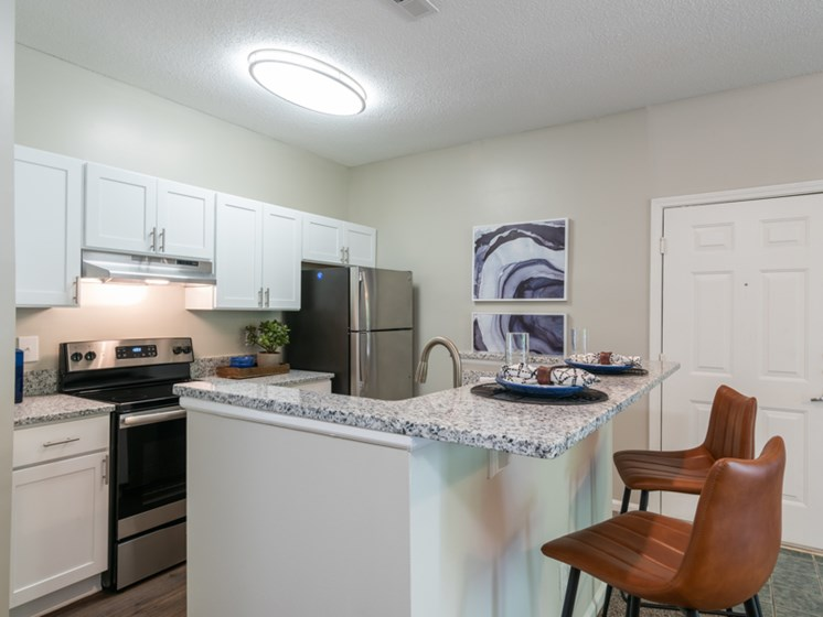 The Village Renovated Kitchen at The Village Apartments, Raleigh, NC