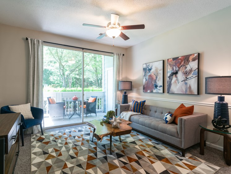 Open Floor Plan Living Room at The Village Apartments, Raleigh, NC