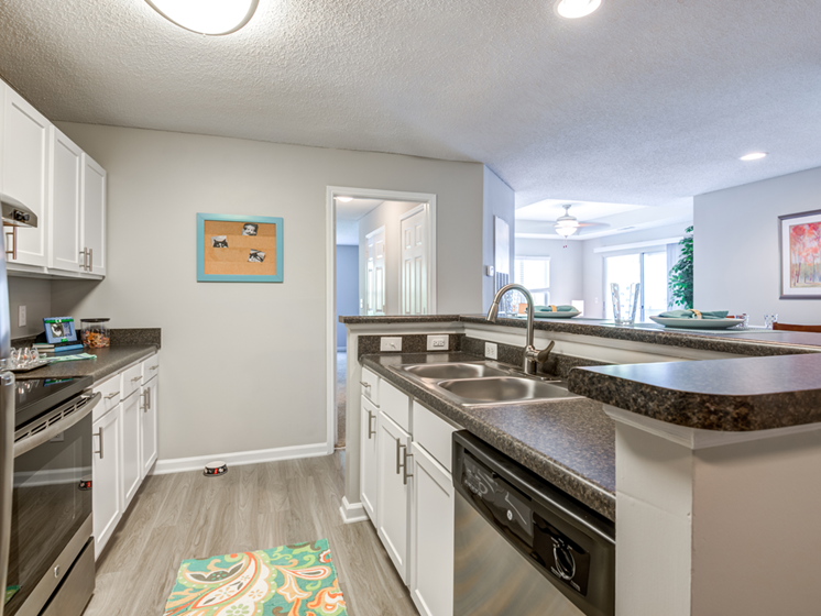 Fully Equipped Kitchen at The Village Apartments, Raleigh, 27615