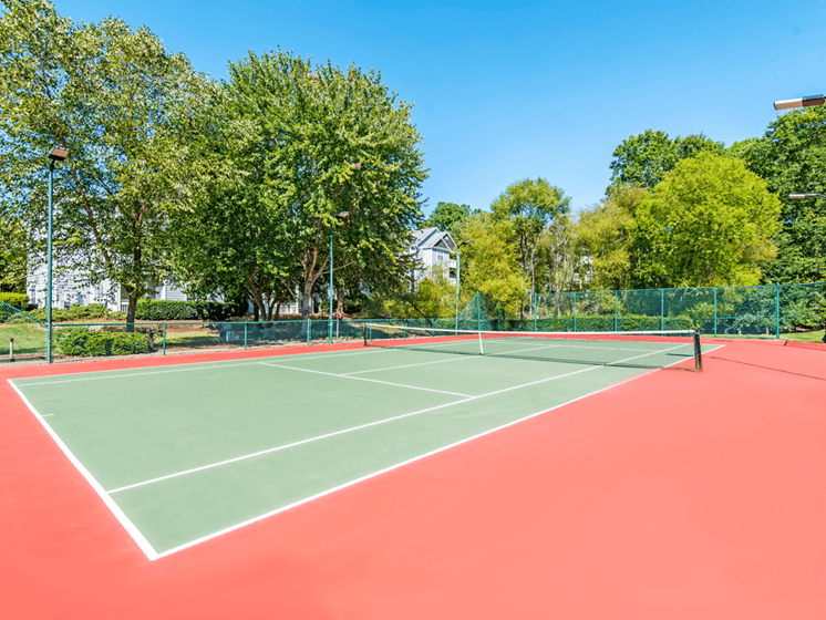 Tennis Courts at The Village Apartments, Raleigh, NC, 27615