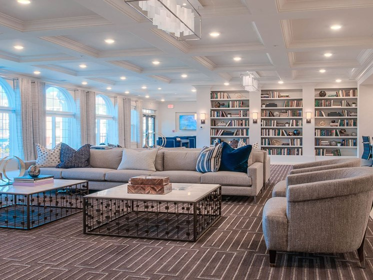 Spacious Clubroom And Library Area at Village Center Apartments At Wormans Mill*, Frederick, MD