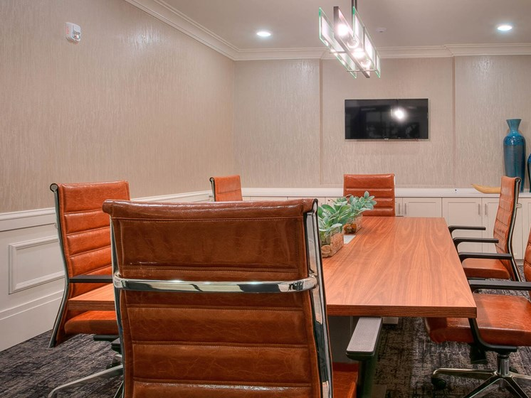 Conference Room In Business Center at Village Center Apartments At Wormans Mill*, Frederick, 21701
