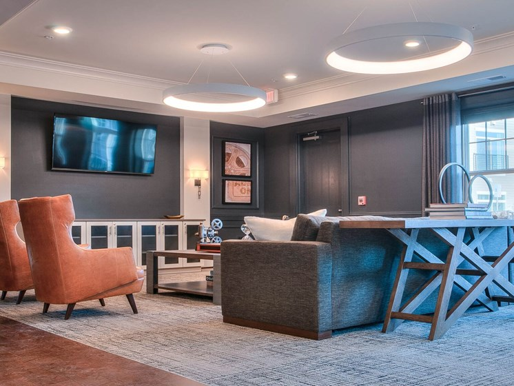 Relaxing Tv Media Room at Village Center Apartments At Wormans Mill*, Maryland, 21701