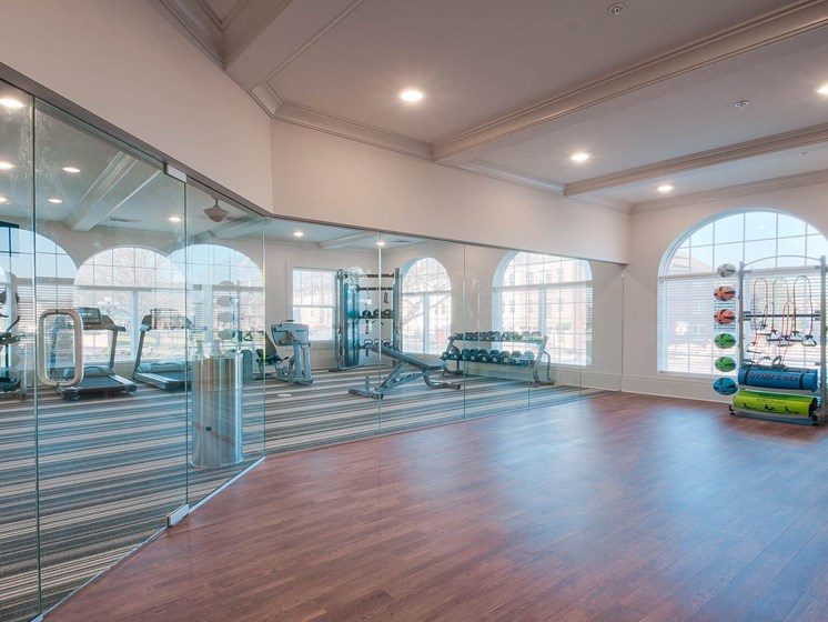 Two State-Of-The-Art Fitness Facility With Yoga And Strength Training at Village Center Apartments At Wormans Mill*, Frederick, MD, 21701