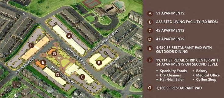 Site Map at Village Center Apartments At Wormans Mill*, Frederick, Maryland
