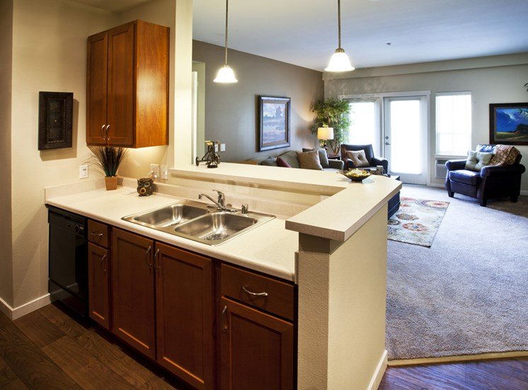 Gourmet Kitchen with Extra Large 42-Inch Tall Cabinets