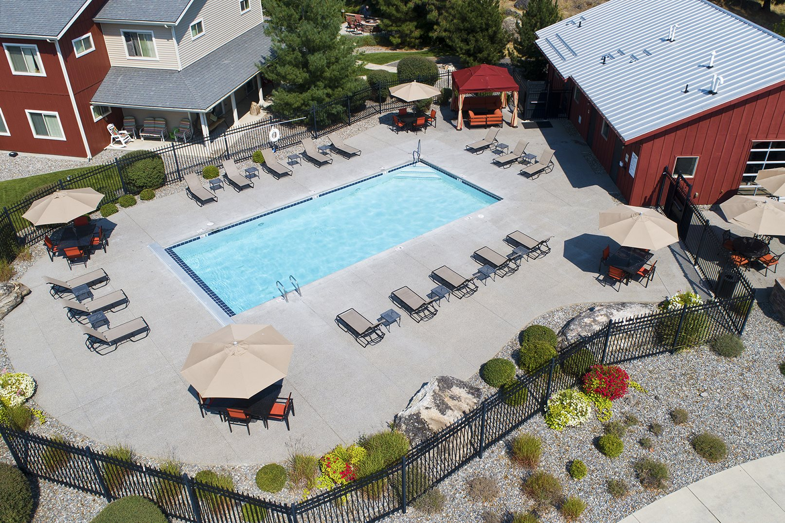 Pine Valley Ranch Apartments Aerial View