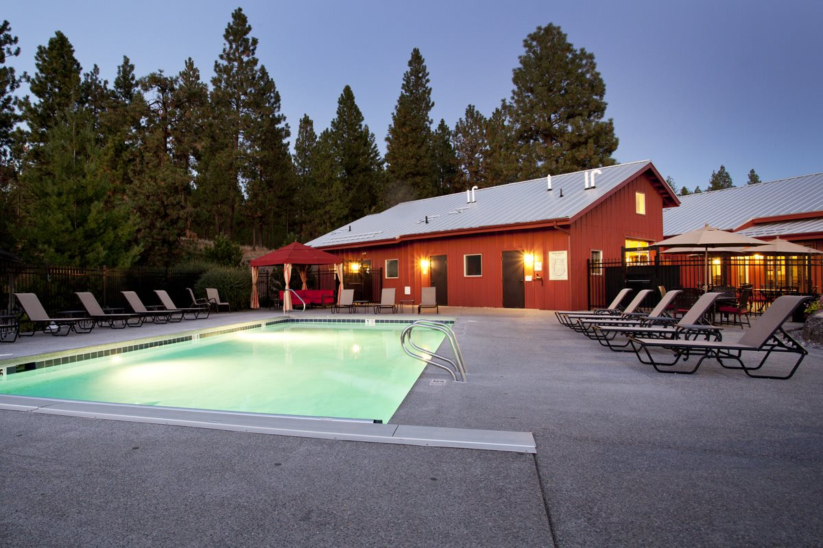 Pine Valley Ranch Apartments Community Pool and Lounge Chairs