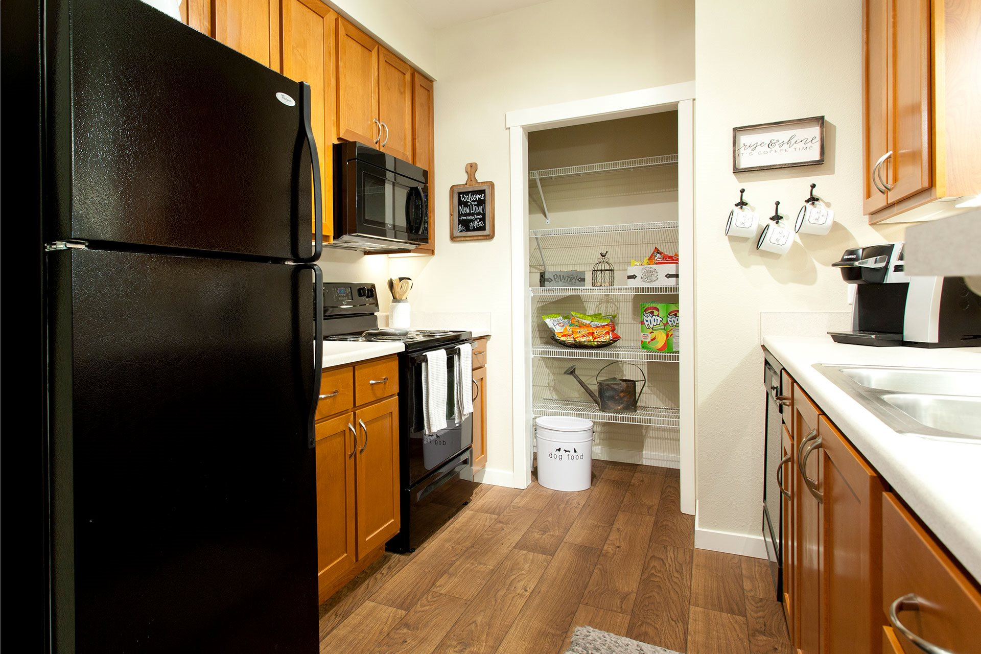 Pine Valley Ranch Apartments Kitchen and Pantry