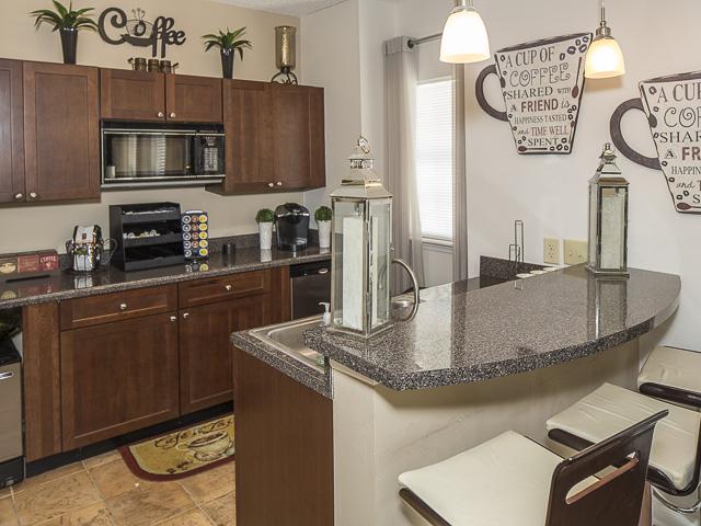 Clubhouse Kitchen | Landmark at Battleground Park Apartment Homes Greensboro, NC