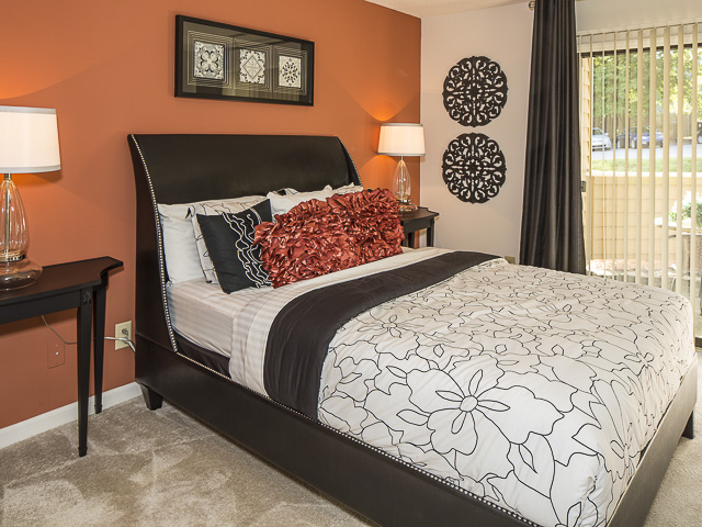 Furnished Bedroom | Landmark at Battleground Park Apartment Homes Greensboro, NC