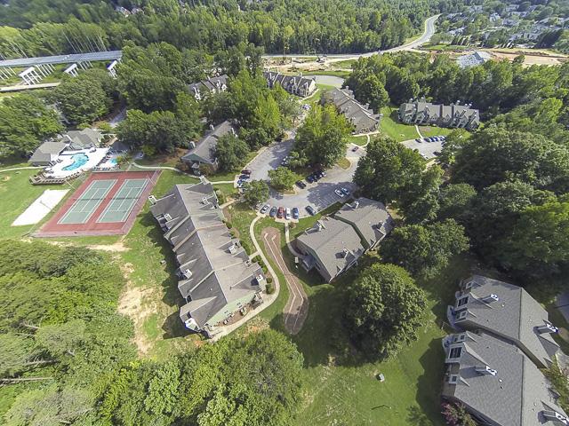 Aerial Photo of Landmark at Battleground Park Apartment Homes Greensboro, NC