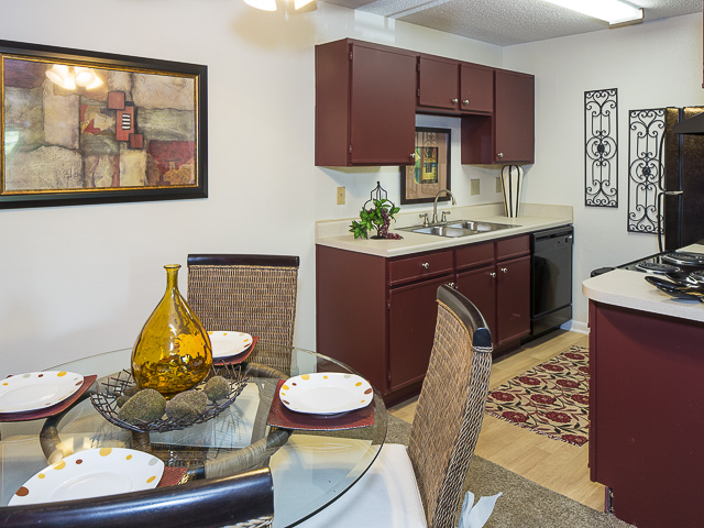 Dining Room and Kitchen | Victoria Park Apartment Homes Charlotte, NC