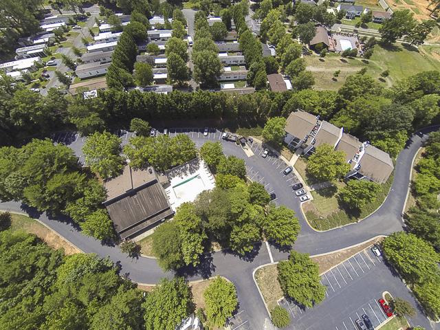 Aerial View | Victoria Park Apartment Homes Charlotte, NC