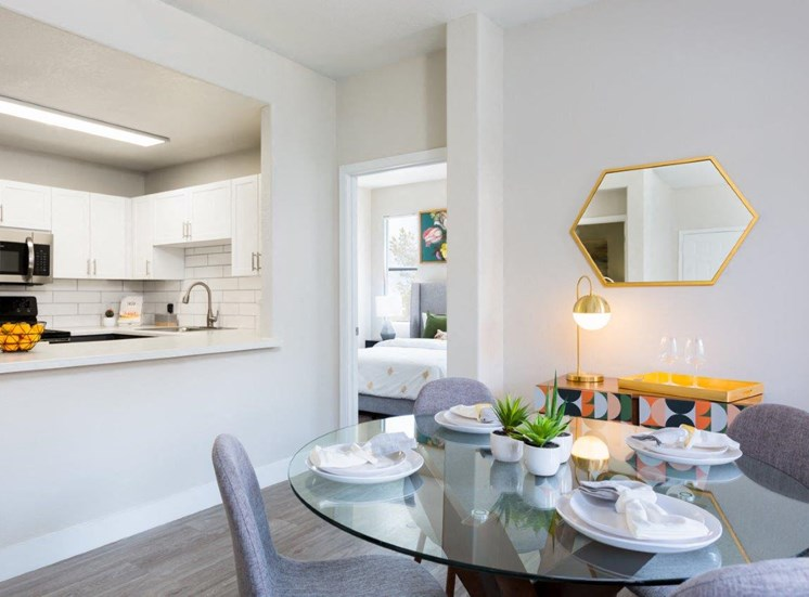Model apartment home dining room