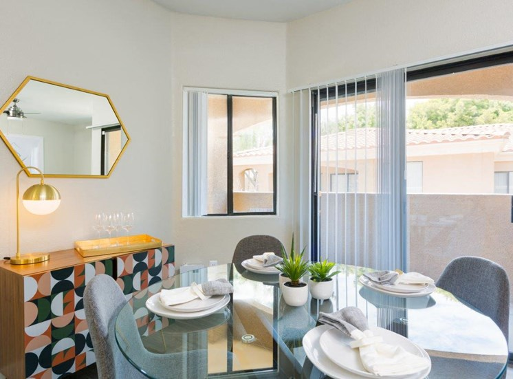 Model apartment home dining room from a different angle