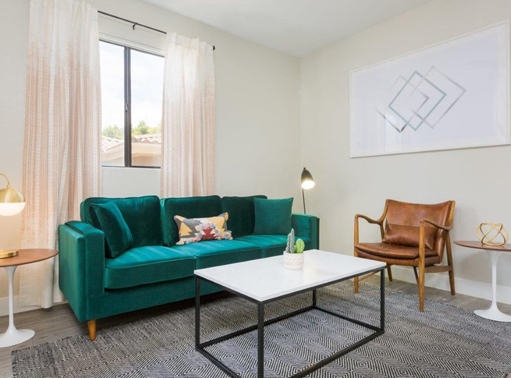 Model apartment home living room