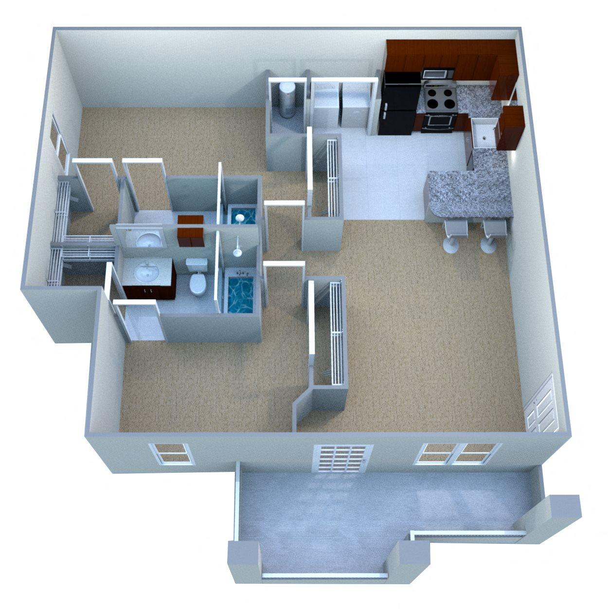 Custom Deluxe III Floor Plan 1