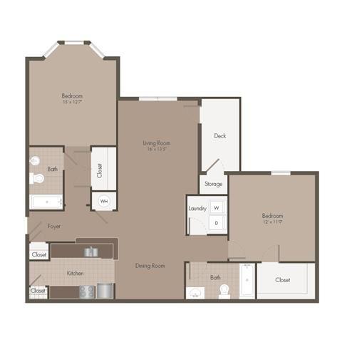2 Bedroom | 2 Bath | 1174 SF