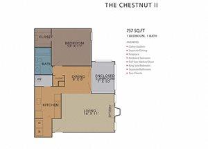 The Chestnut II FloorPlan at Rosemont Vinings Ridge, Atlanta, GA, 30339