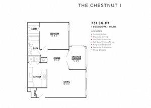 The Chestnut I FloorPlan at Rosemont Vinings Ridge, Atlanta, Georgia