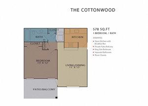 The Cottonwood FloorPlan at Rosemont Vinings Ridge, Georgia, 30339