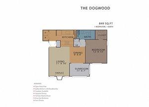 The Dogwood FloorPlan at Rosemont Vinings Ridge, Atlanta