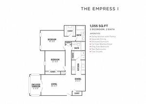 The Empress I FloorPlan at Rosemont Vinings Ridge, Atlanta