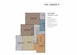 The Linden II FloorPlan at Rosemont Vinings Ridge, Atlanta, GA