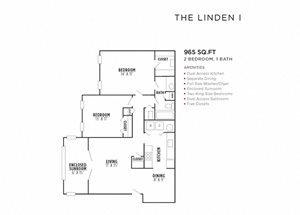 The Linden I FloorPlan at Rosemont Vinings Ridge, Atlanta, GA, 30339