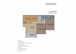 The Maple FloorPlan at Rosemont Vinings Ridge, Georgia, 30339