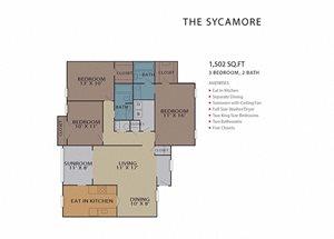 The Sycamore FloorPlan at Rosemont Vinings Ridge, Georgia, 30339