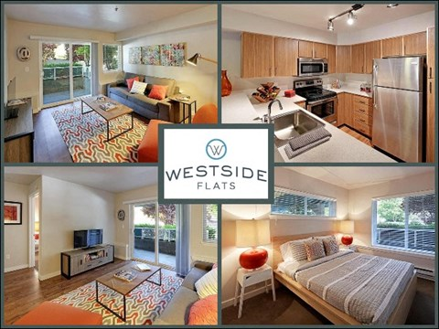 Westside Flats Apartment Homes Collage of Interiors