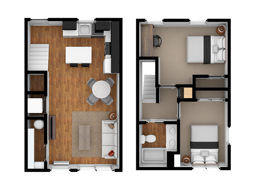 Levinson 2x1 Floor Plans at Ramblewood Apartments in Fremont, CA 94536