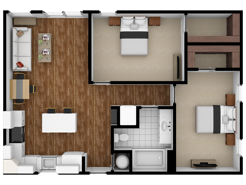 Palmer 2x1 Floor Plans at Ramblewood Apartments in Fremont, CA 94536