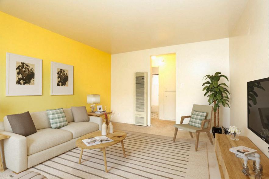 Living Room (furnished) Schafer Road Duplexes in Hayward, CA 94554