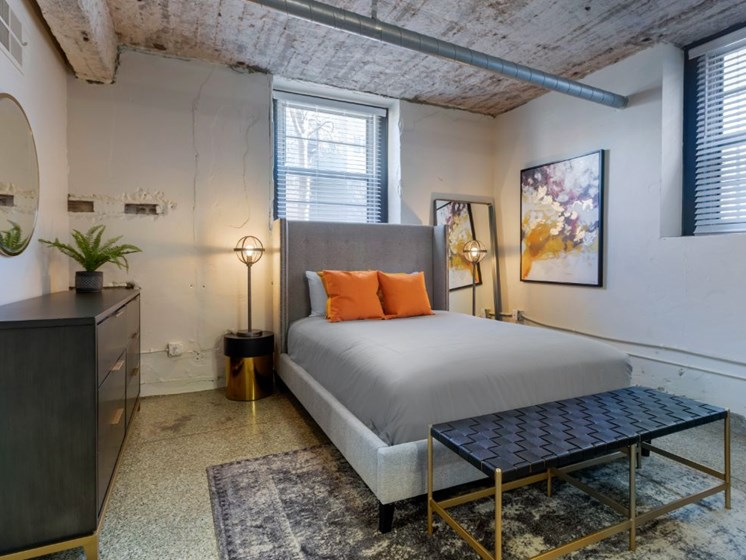 The Indi at Uptown Square Apartments | Loft Style Bedroom