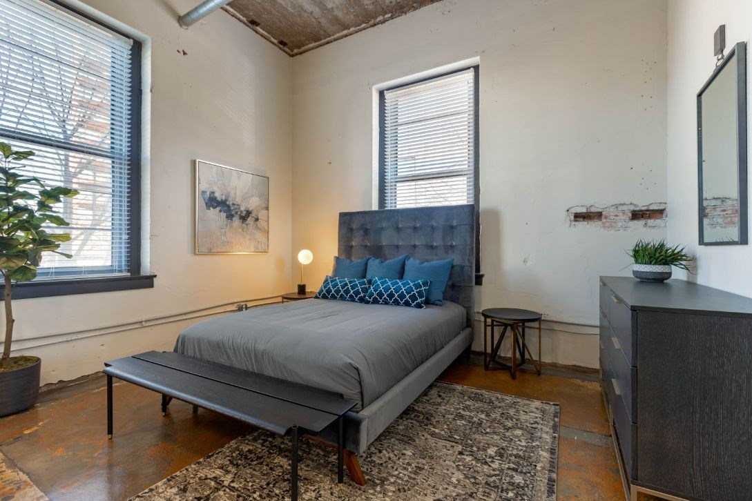The Indi at Uptown Square Apartments |Loft Style Bedroom