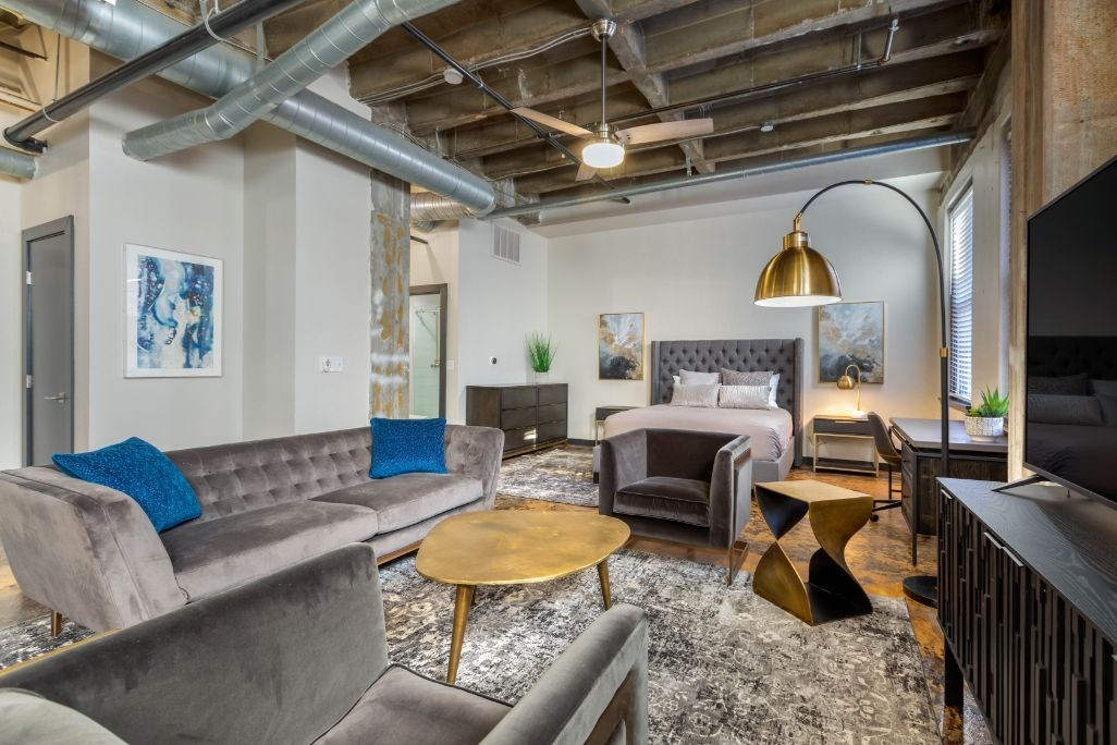 The Indi at Uptown Square Apartments |Open Floor Plan Living Room