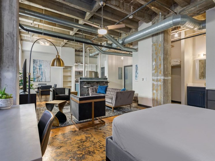 The Indi at Uptown Square Apartments  Spacious Loft Style Open Floor Plan